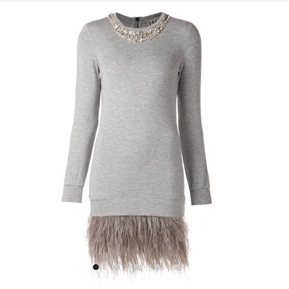 b39d5cf316 HAUTE HIPPIE FEATHER STONE NWT SWEATER DRESS 0128