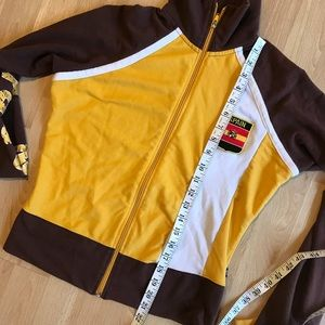 Youth Madrid Spain Zip-up Sweater Yellow & Brown