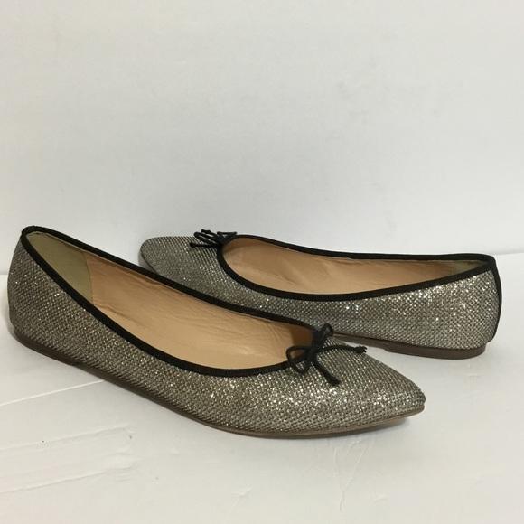 0132cc1d04e J. Crew Shoes - J.Crew Gemma Sparkle Glitter Ballet Flat Size 9