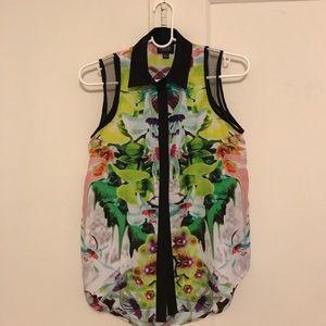 Prabal Gurung for Target floral shirt - XS/S
