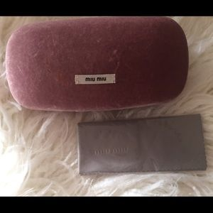 Miu Miu Velvet Sunglass Case w/Cloth