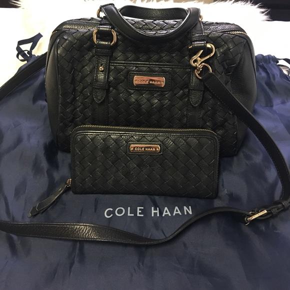 🌹Price Drop🌹Bundle Cole Haan Woven bag   wallet 9cf39e96fcf6d