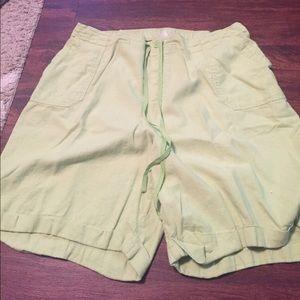 Just my size green Bermuda shorts