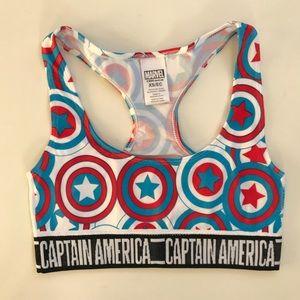 NWOT-Marvel Captain America Sports Bra