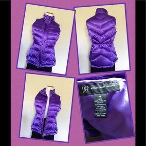 INC Purple Down Vest