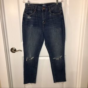 UO BDG High Rise Distressed Cropped Jeans