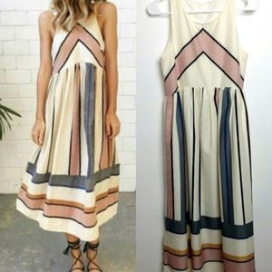 Dresses & Skirts - SALE 🎉 Boho Sleeveless Shift Midi Dress Striped