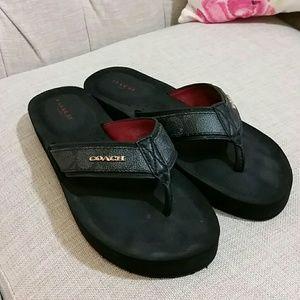 4dbedb6637d0 Coach Shoes - Coach judy flip flops 7 black