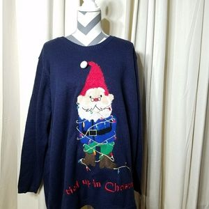 Sweaters - Christmas Sweater Elf Light Up XL