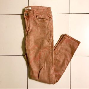 Ladies salmon pink funky jeans by else