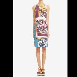Clover Canyon Chrome Divide open back apron dress