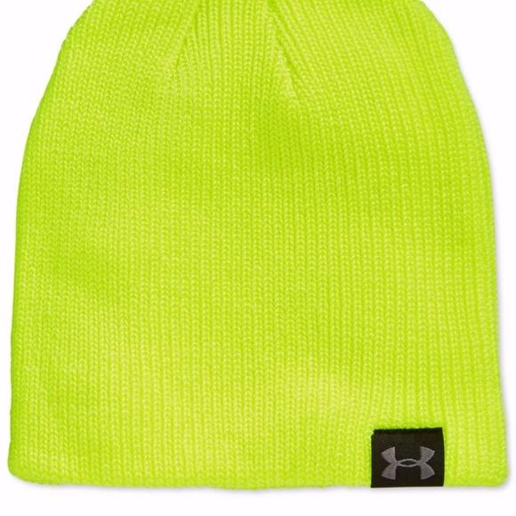 e7706c0ee27 Under Armour Knit Beanie Hat Yellow Men Women