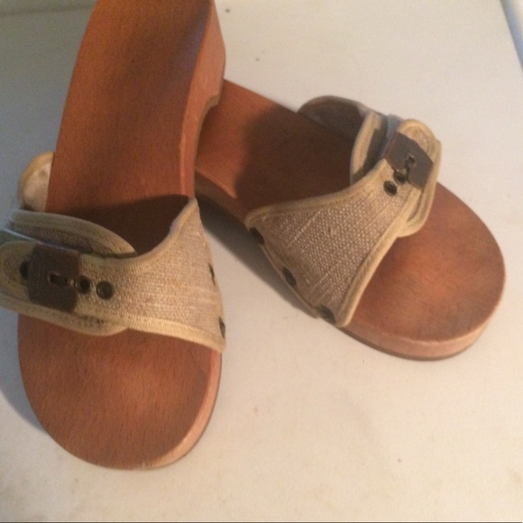 11684796ffb7 Dr. Scholl s Shoes - DR. SCHOLL wooden pescura heel sandal.