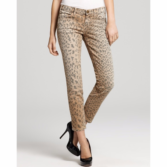 a4296160572d Current/Elliott Denim - Current/Elliott Stiletto Camel Leopard Skinny Jean
