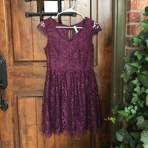 Dresses & Skirts - Purple lace dress!💕