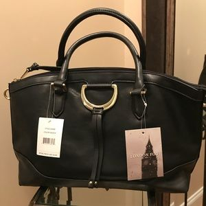 London Fog Benson Satchel in black