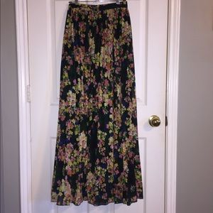 ASOS pleated floral maxi