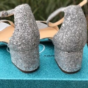 142ad33ad28 Blue by Betsey Johnson Jayce Silver Glitter NWT