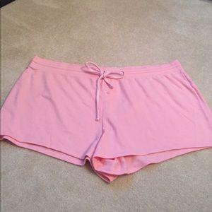 Pink sleep shorts