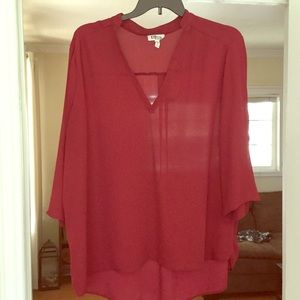 Maroon/ Red blouse