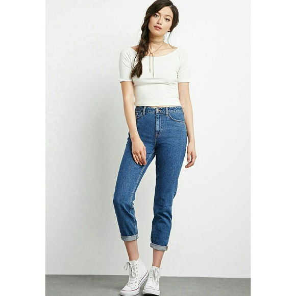 0a0c86c1aa Forever 21 Jeans | Perfect Flattering High Mom Rolled Cuff | Poshmark