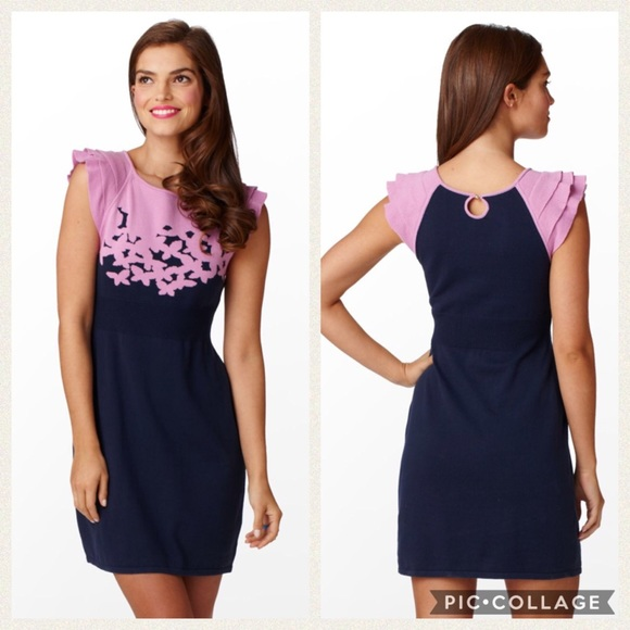 fabc7d57dc2 Lilly Pulitzer Dresses   Skirts - Lilly Pulitzer purple navy Kariana sweater  dress