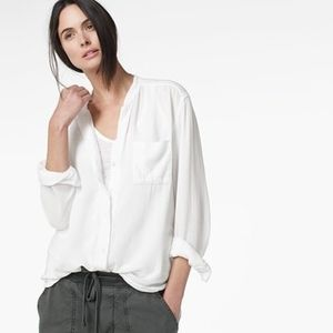Collarless Shirt White James Perse NWT