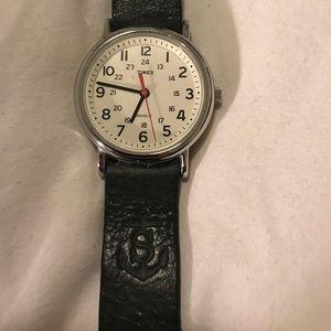 Timex x J. Crew Field Watch + Custom Leather Band