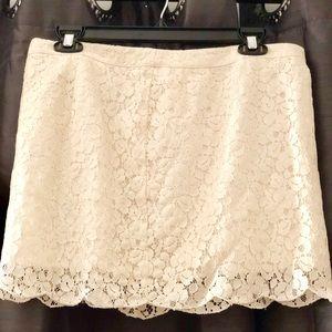 Delicate Lace-Detail Mini Skirt