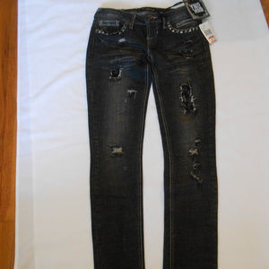 YNO Juniors Jeans Size 26 With Lace