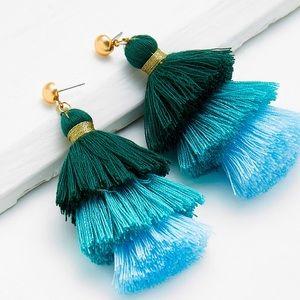 🆕🎁Ombré tassel tiered earrings