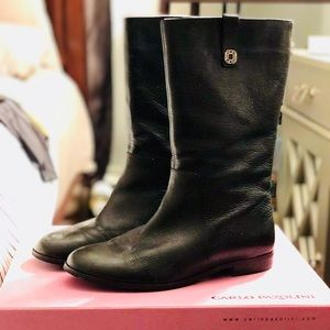 Stylish Mid Calf Leather Boots