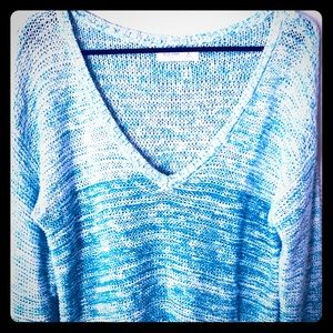 🚢 Beautiful Ombré Blue Sweater by Gilly Hicks