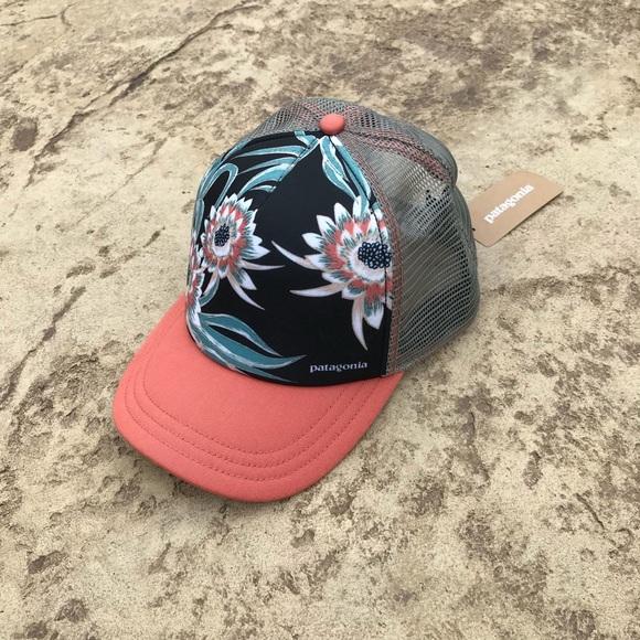 5e363711e2e6f3 Patagonia Accessories   Floral Trucker Hat Womens   Poshmark