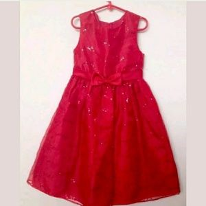 Rare, Too! Girls Occasion Red Sparkle Sequin Studd