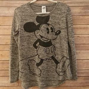 Disney open knit Mickey Mouse long sleeve top