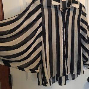 Blue striped blouse 👚