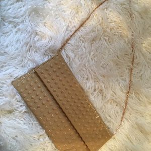 Handbags - Nude Patent leather Clutch handbag