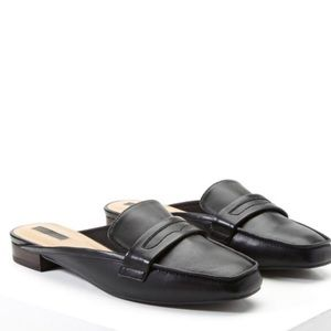 Forever 21 Loafer Mules in Black