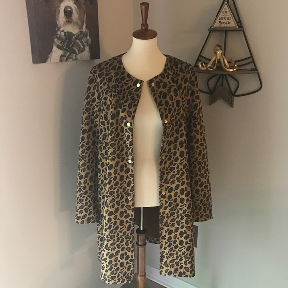 74313772eee7 Andrew Marc Jackets & Coats   Marc New York Suede Leopard Jacket ...