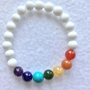 Jewelry - Stylish Chakra Gemstone Bracelet!