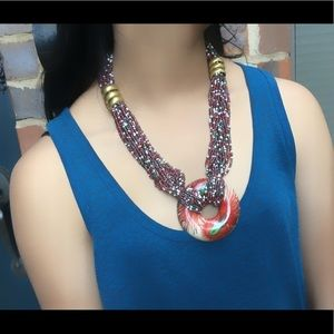 Jewelry - New Multicolored Beaded Pendant Necklace