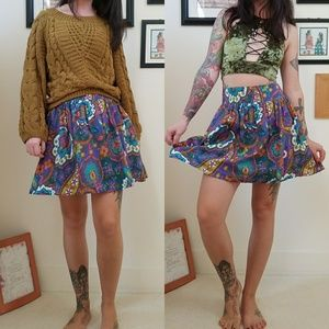 Psychedelic floral Skirt