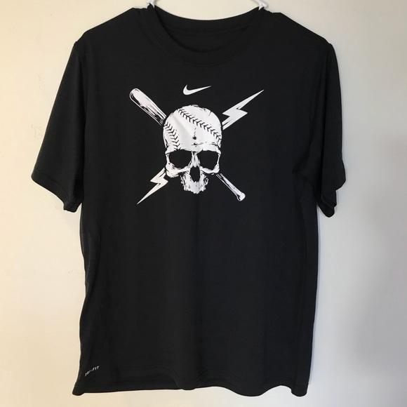 f066ac63879 NIKE DRI-FIT Legend Baseball Skull Boys  T-Shirt. M 59ffa135a88e7db5780f7e34