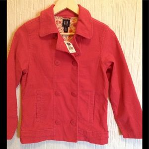 Gap Kids Dark Pink Corduroy Jacket XL 12 NWT's!