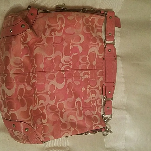 Coach Handbags - CARLY Medium Pink Coach Bag 7dd1d7e1c5fc0