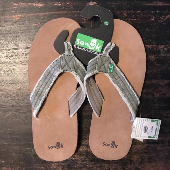 3b906e0a90b7 Men s Sanuk Fraid Not Olive flip flop
