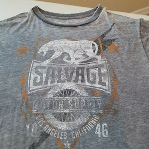 Men's Salvage Distressed T-shirt XL