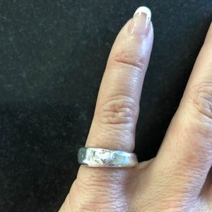 Sterling Silver ring with heart size 5