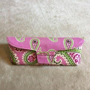 Vera Bradley pink paisley snap eye glasses case